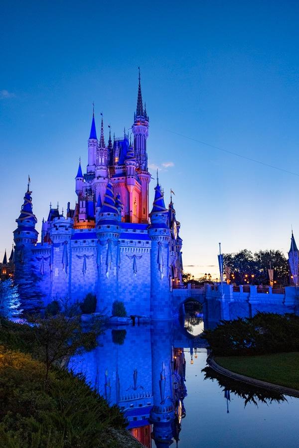 Day breaks at Magic Kingdom Park, Oct. 1, 2021, on the 50th anniversary of Walt Disney World Resort