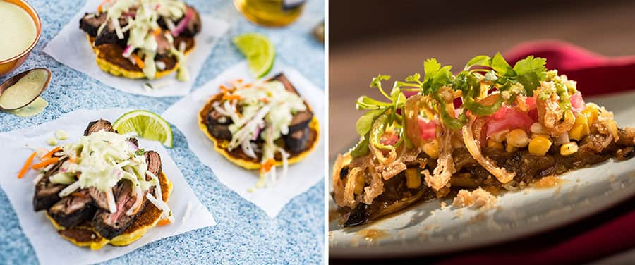 EPCOT Food and Wine festival Charred chimichurri steak and Crispy Pig Ear Salad