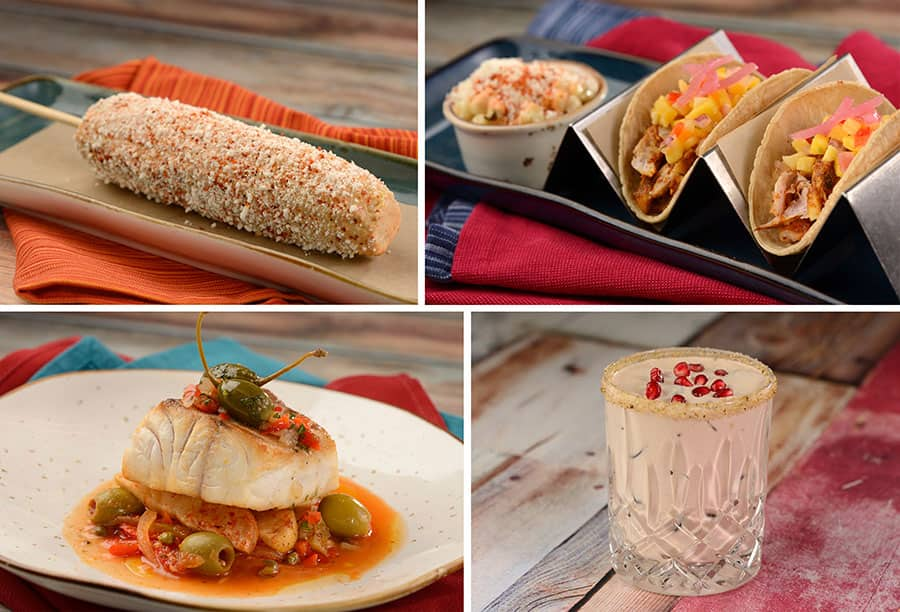 assortment of food items from the Mexico pavilion's world-famous San Angel Inn Restaurante and Choza de Margarita
