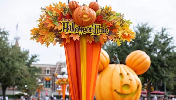 Pumpkin Festival on Main Street, U.S.A. at Disneyland park