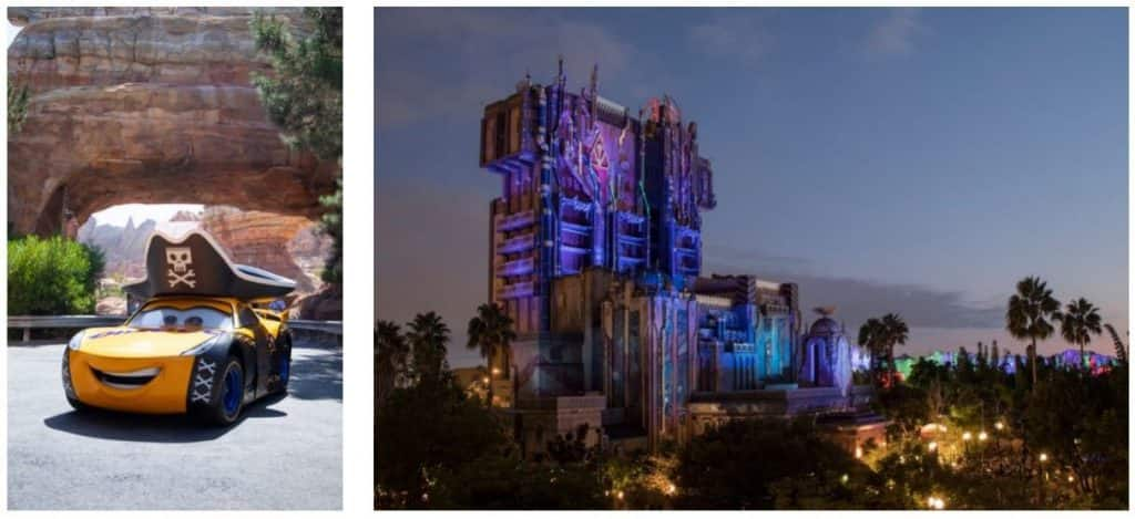Halloween Transformation for Families in Cars Land and Guardians of the Galaxy: Monsters After Dark at Disney California Adventure Park
