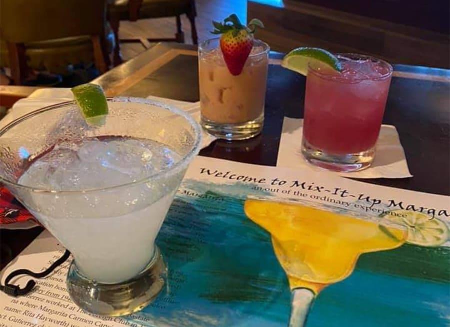 Margarita cocktails at the Green Cabin Room Vero Beach
