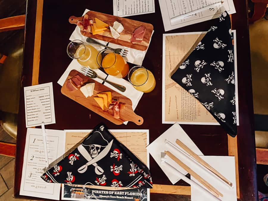 charcuterie board and pirates themed activities