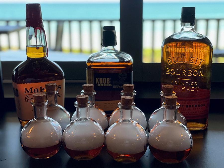 Smoked bourbon at the Green Cabin Room at Vero Beach