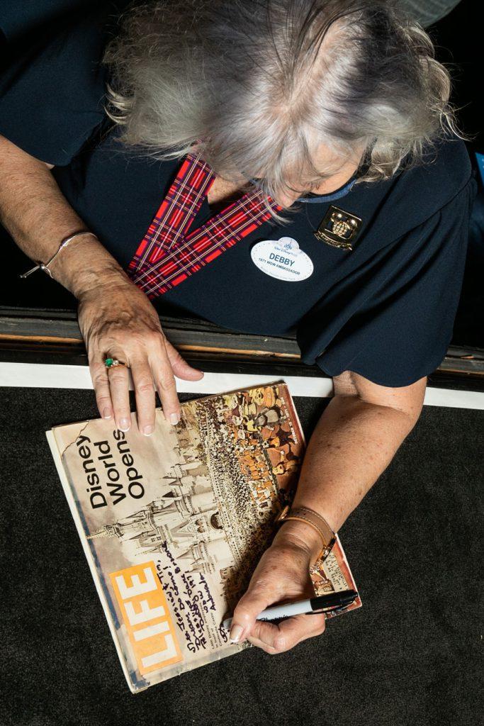 Debby Dane Browne signing Life magazine