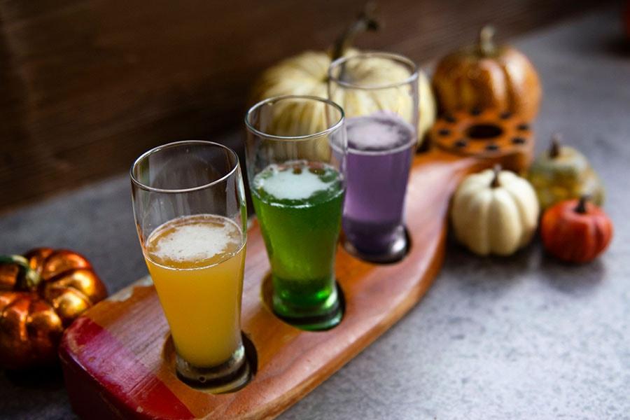 Fall foodie guide Disney Springs 2021 cocktail flight