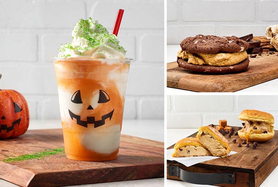 Fall foodie guide Disney Springs 2021pumpkin shake and cookies
