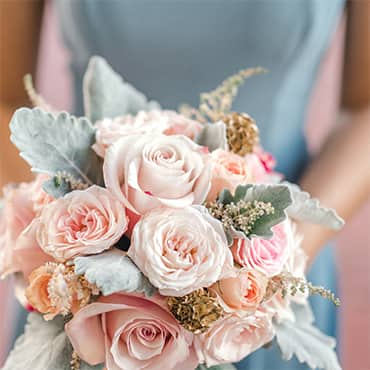 Close up of wedding flower bouquet