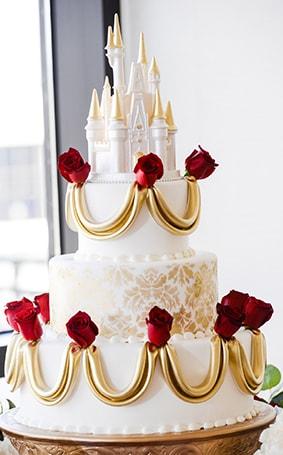 Beauty And The Beast Wedding Cake.Wedding Cake Wednesday Beauty And The Beast Roses Disney Weddings