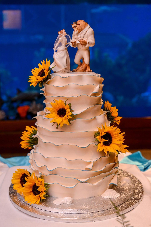 Beauty And The Beast Wedding Cake.Wedding Cake Wednesday Beauty And The Beast Sunflowers Disney