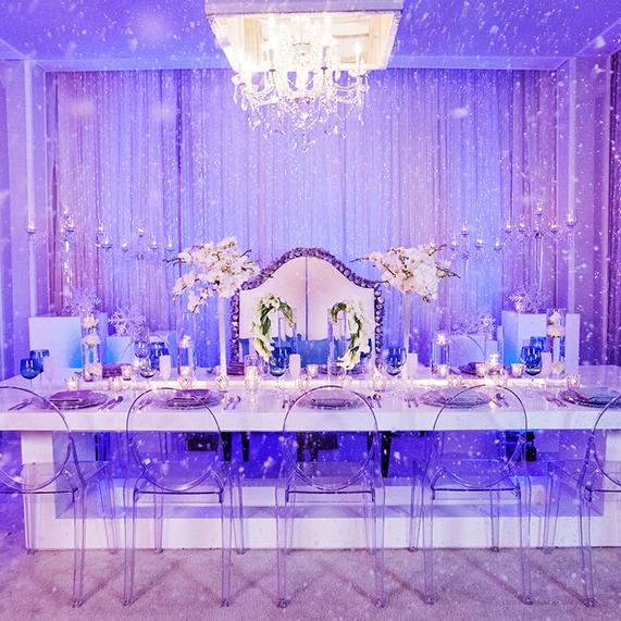 Decor Frozen Inspired Winter Wonderland Reception Disney Weddings