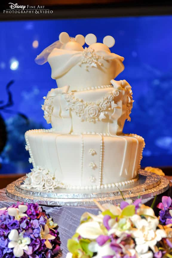 Wedding Cake Wednesday  All White Mickey Ears  b83070d4109