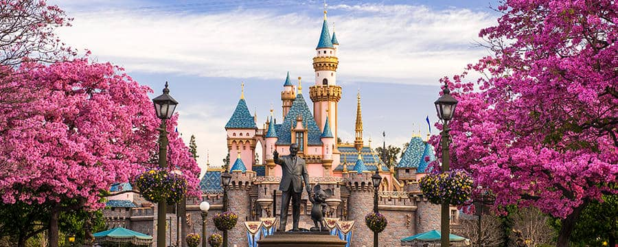 The majestic Sleeping Beauty Castle, the centerpiece of Disneyland Park