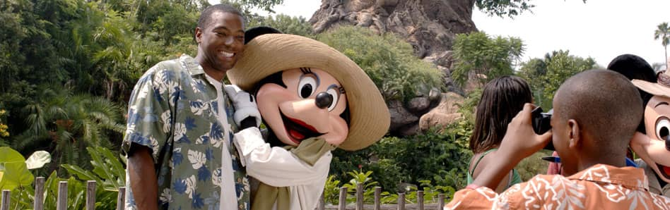 Disney Characters at Animal Kingdom theme park