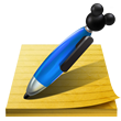 Mickey Pen and Notepad Icon
