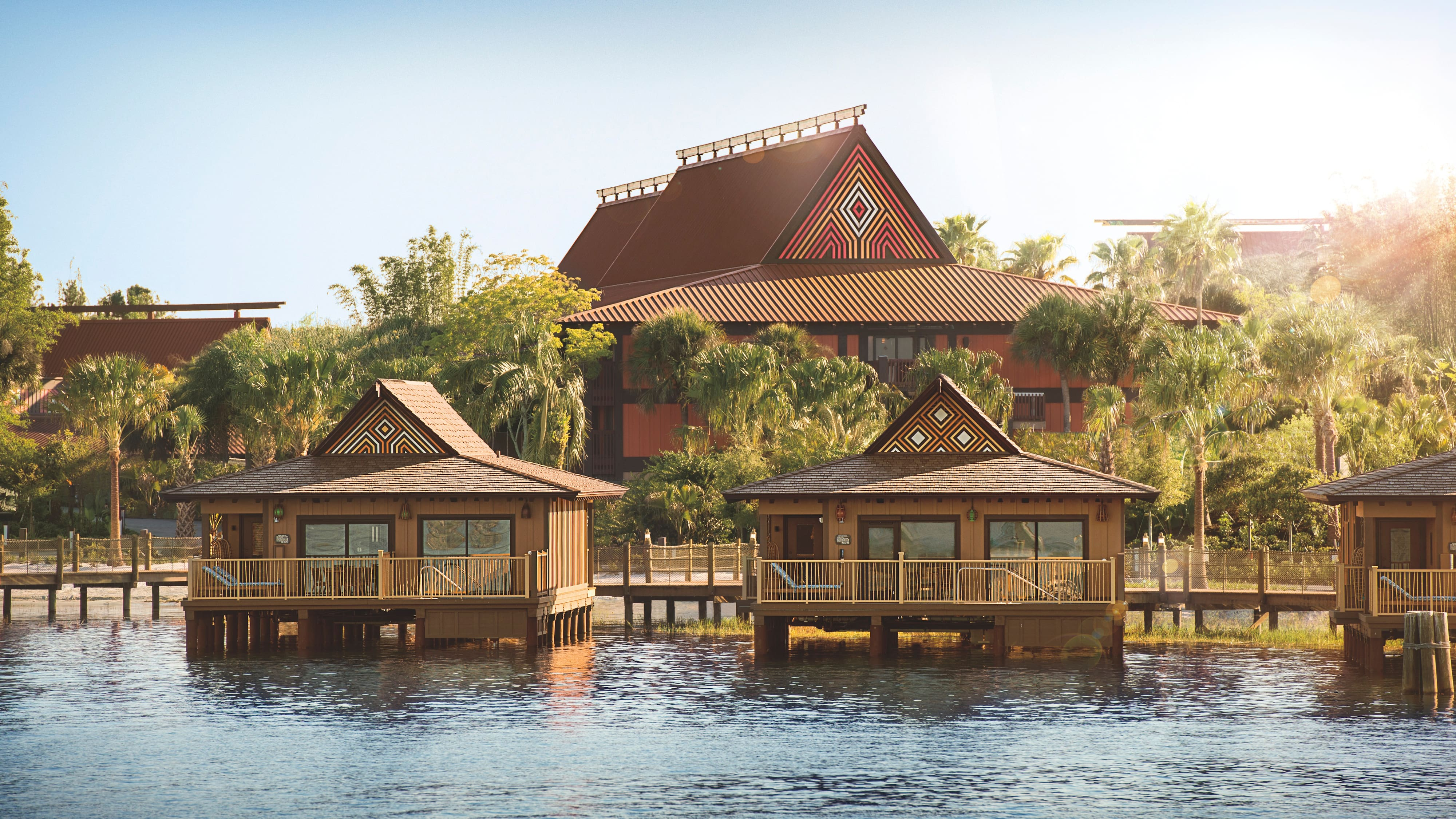 Disney's Polynesian Villas & Bungalows on the shores of Seven Seas Lagoon