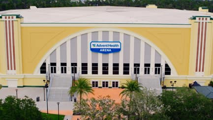 Front of the Advent Health Arena at Disney's Wide World of Sports Complex