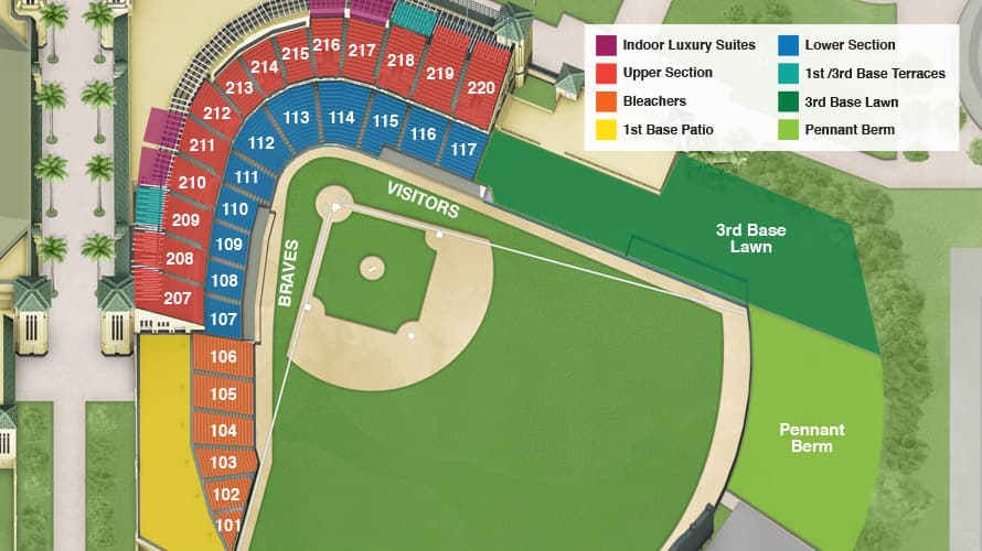 ESPN Wide World of Sports Complex : Champion Stadium Seating Chart
