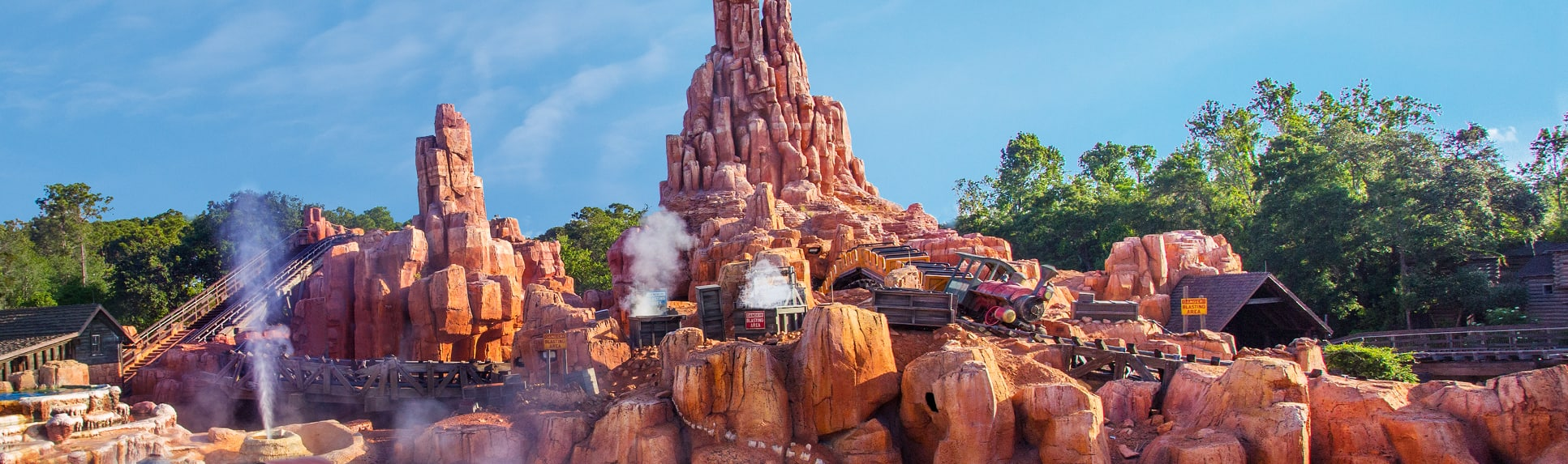 A view of Big Thunder Mountain Railroad located in Frontierland at Magic Kingdom Park