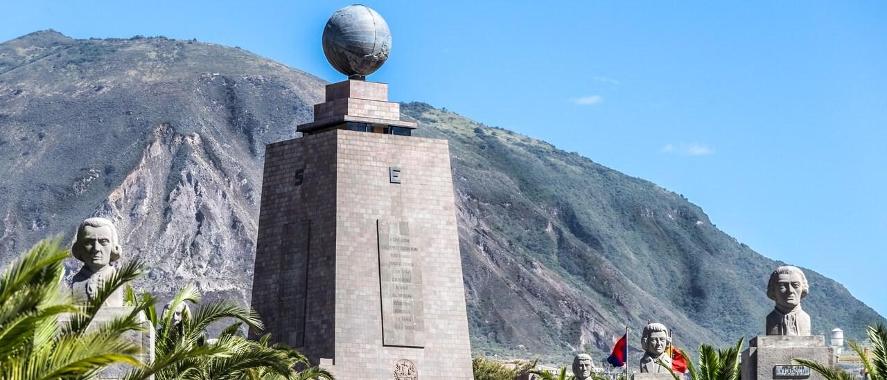 The Monument to the Equator at Ciudad Mitad del Mundo in Ecuador
