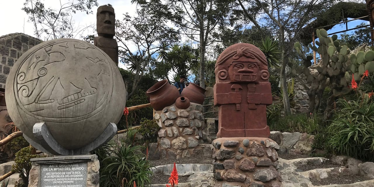 The Totem Garden at the Intiñan Museum