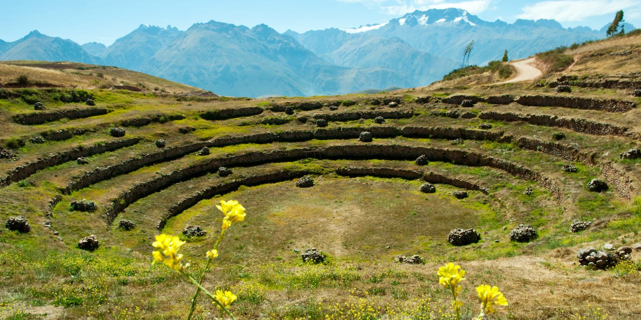 The ruins of Moray with its unique circular terraces