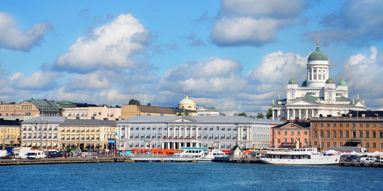 Boats docked at Helsinki's South Harbor