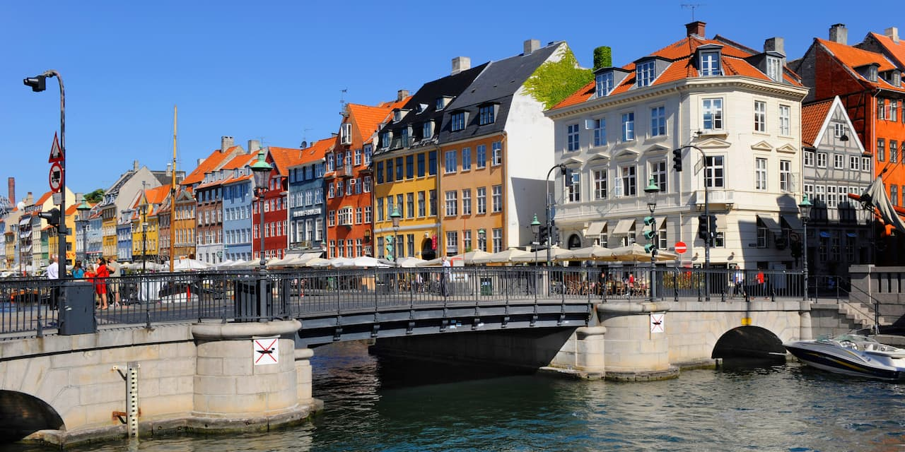 A small pedestrian bridge in Copenhagen