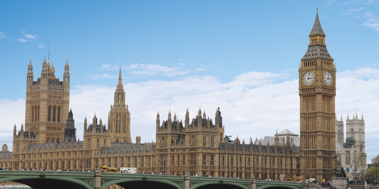 Big Ben and the Westminster Bridge over the River Thames