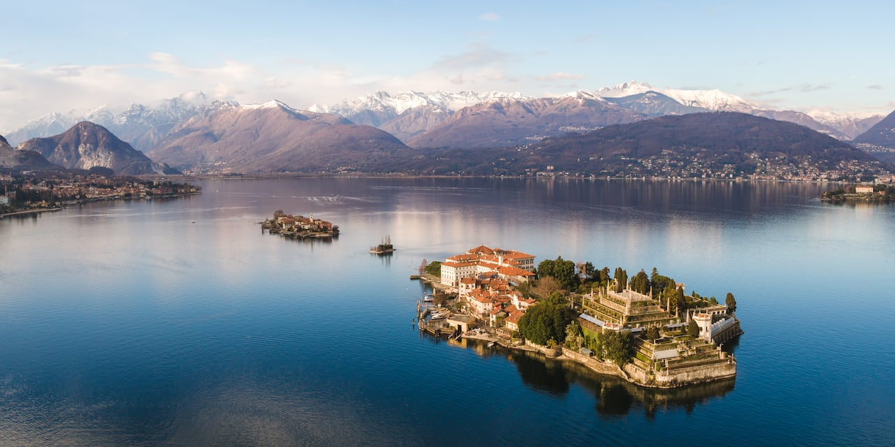 The 3 Borromean Islands, Including Isola dei Pescatori, in Lake Maggiore in Northern Italy off the coast of Stresa