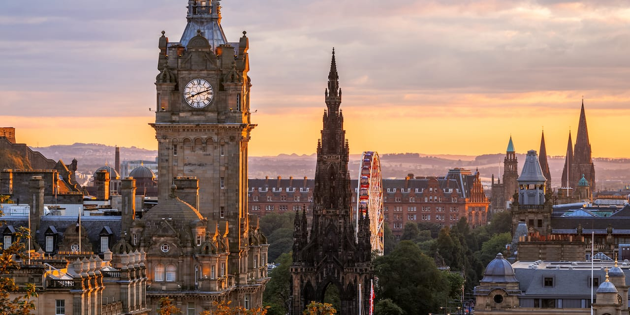 Downtown Edinburgh with its old world charm
