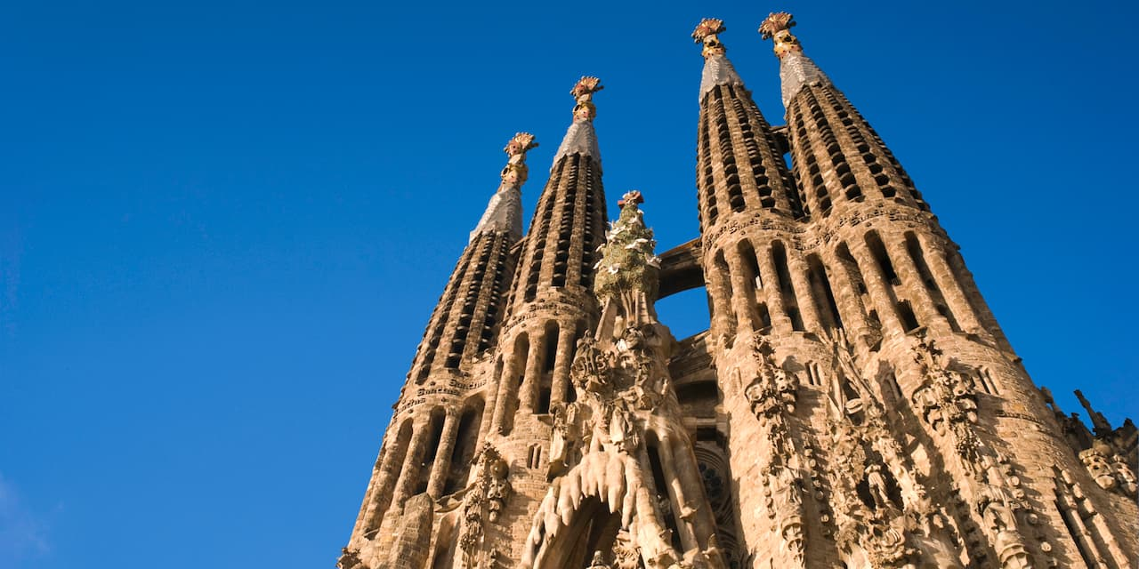 The spires of La Sagrada Família