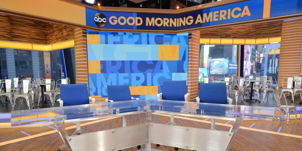 An empty 'Good Morning America' TV studio set