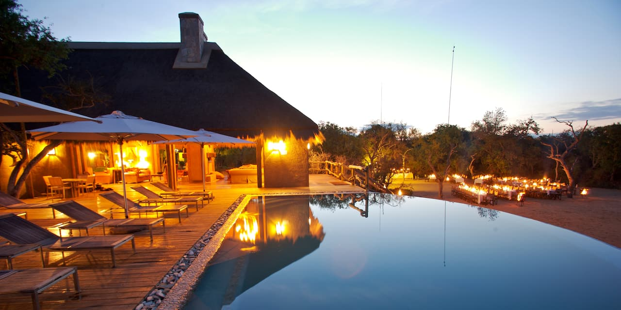 The pool at the Kapama River Lodge in South Africa