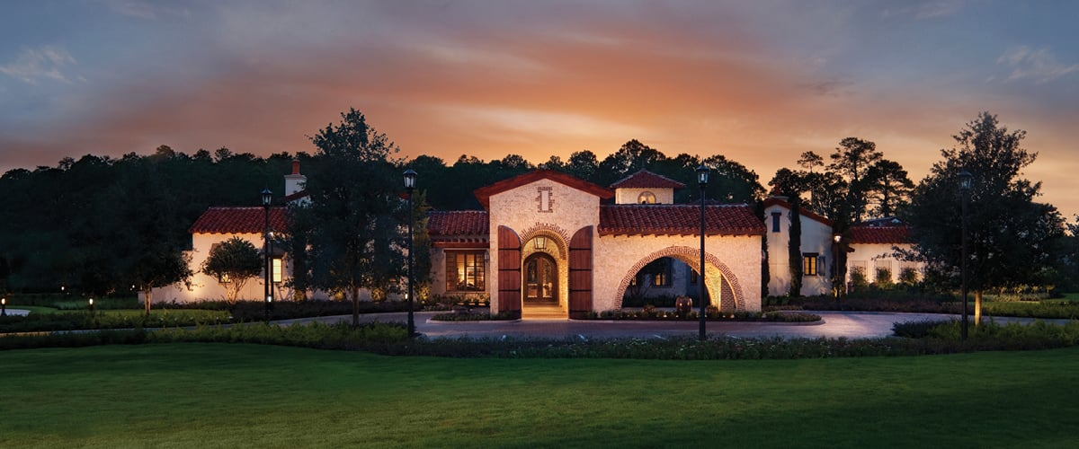 Summerhouse, the private clubhouse at Golden Oak, serves as the community gathering place.