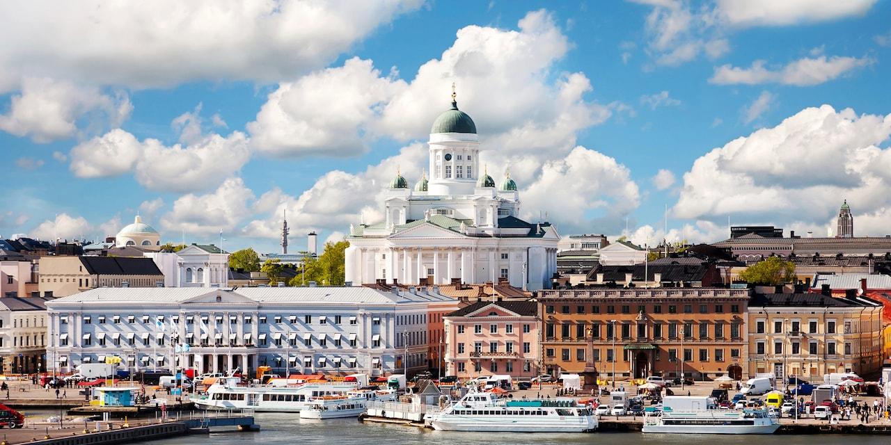 The harbor at Helsinki, Finland