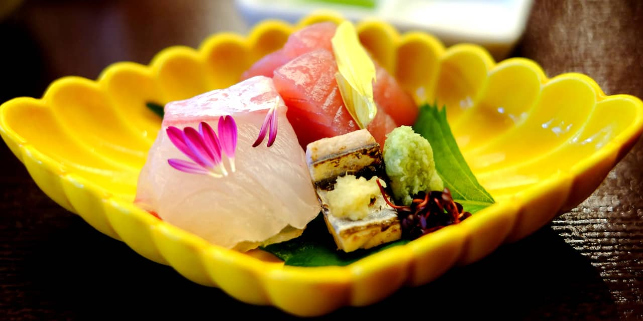A dish of assorted sushi