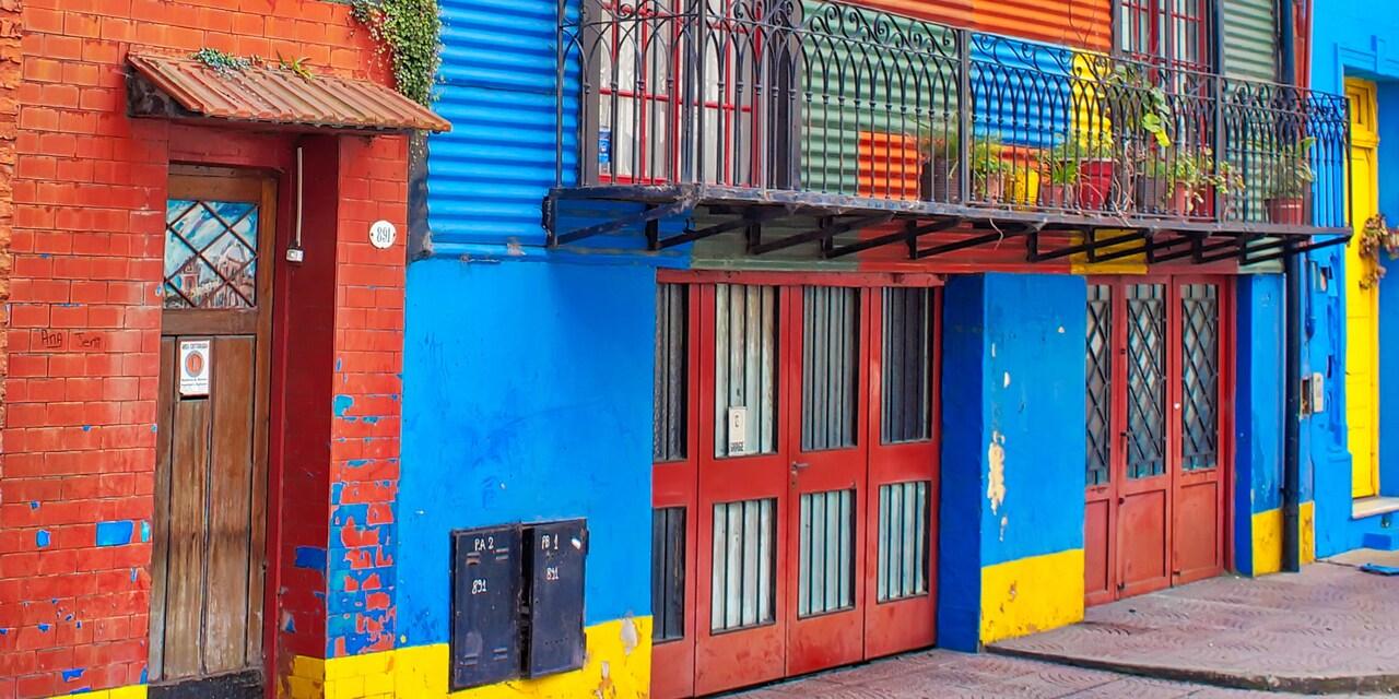 The colorful buildings of the La Boca neighborhood