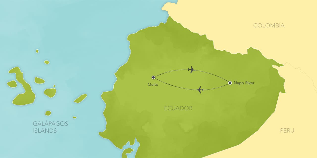 Interactive map ofEcuador, showing a summary of each day's activities.