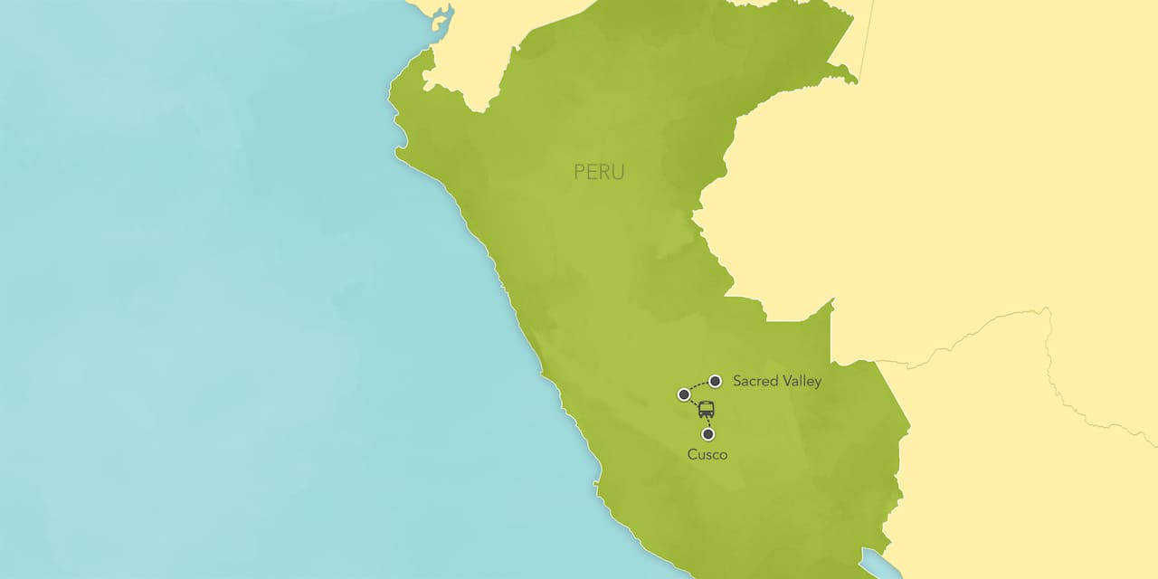 Interactive map of Peru, showing a summary of each day's activities.