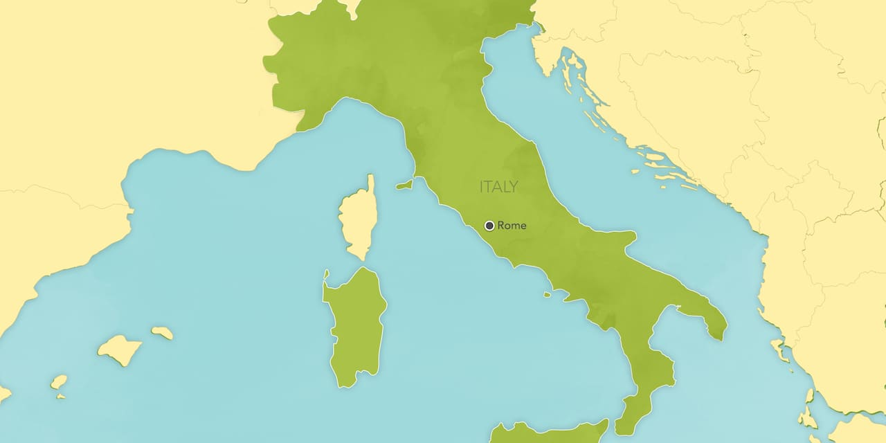 Interactive map of Rome, showing a summary of each day's activities.