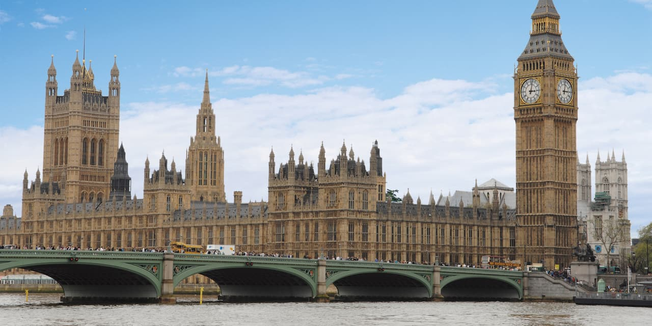 Big Ben and the London Bridge over the River Thames