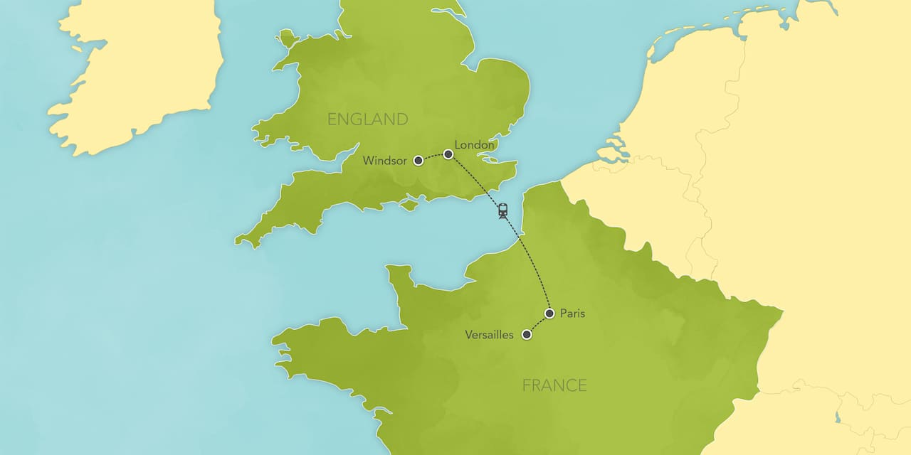 Map Of England To France.London Paris Tours Adventures By Disney