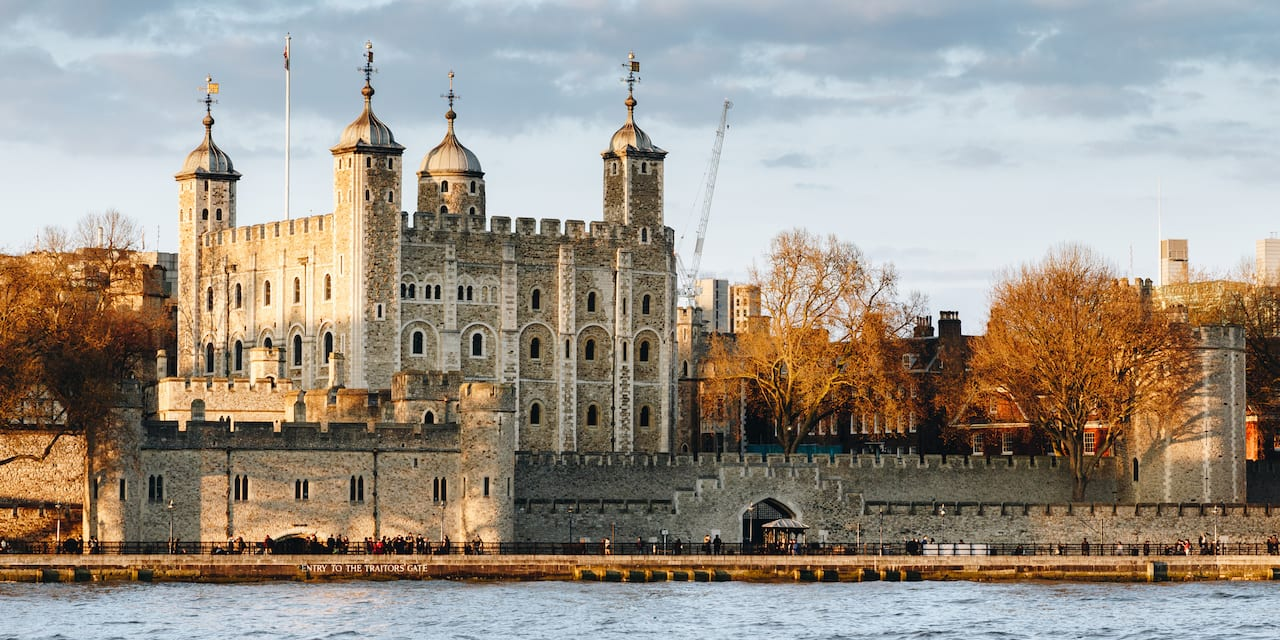 The Tower of London next to the River Thames