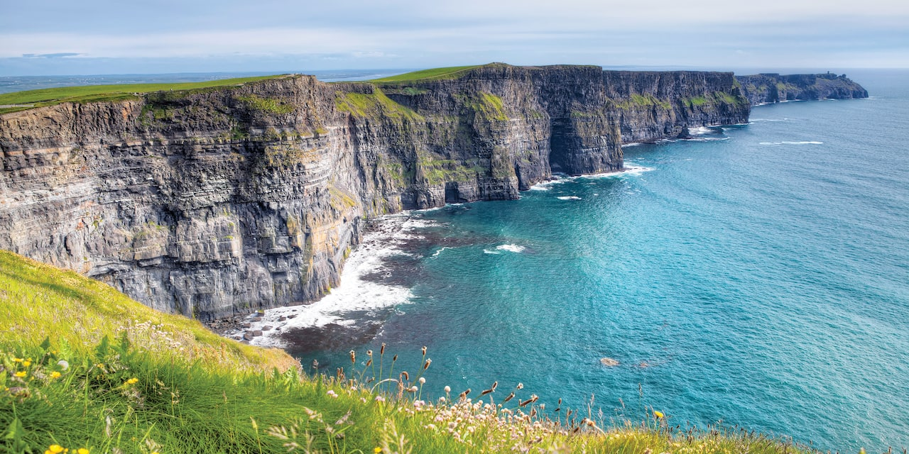 The dramatic Cliffs of Moher loom above the sea