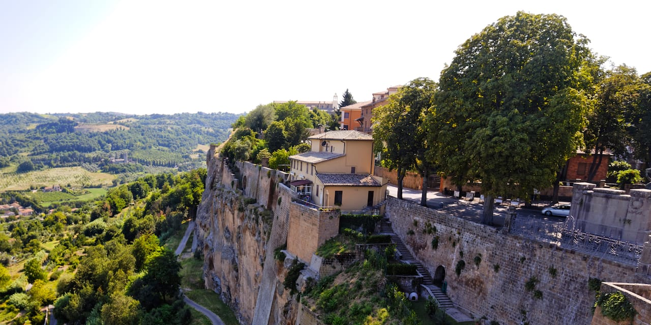 The hilltop town of Orvieto, Italy