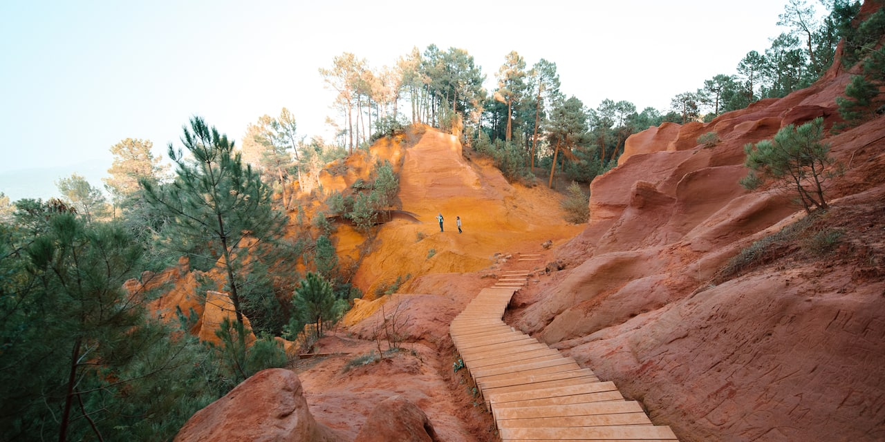 The Ochre Trail in Luberon, France