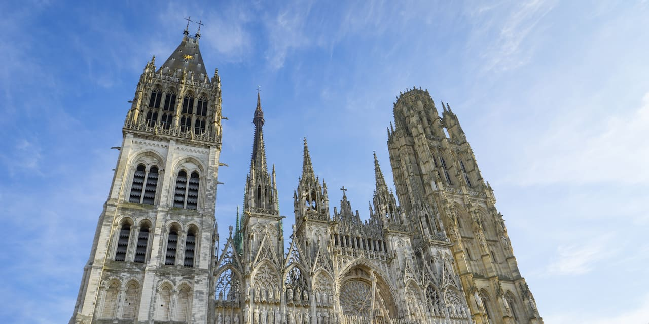 The Gothic Cathédral Notre-Dame in Rouen, France