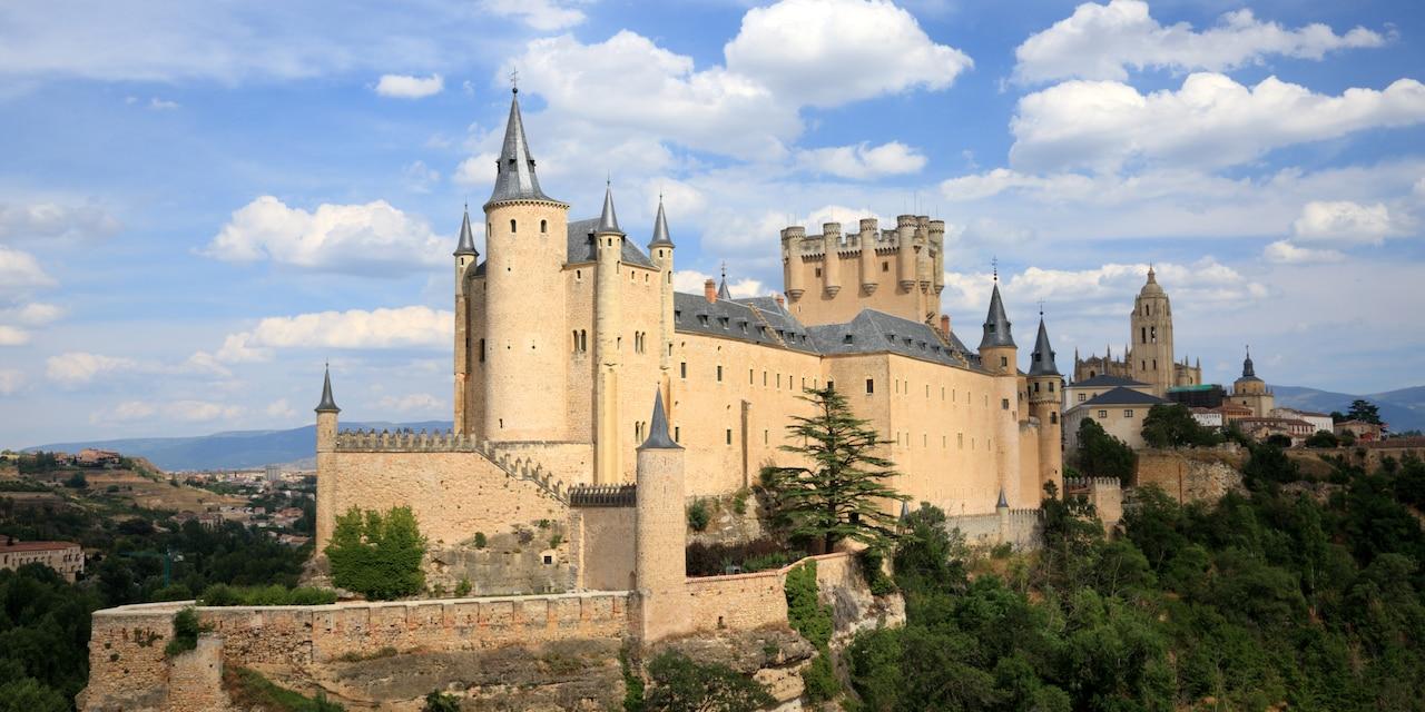 The Alcázar of Segovia – a large castle on a hilltop