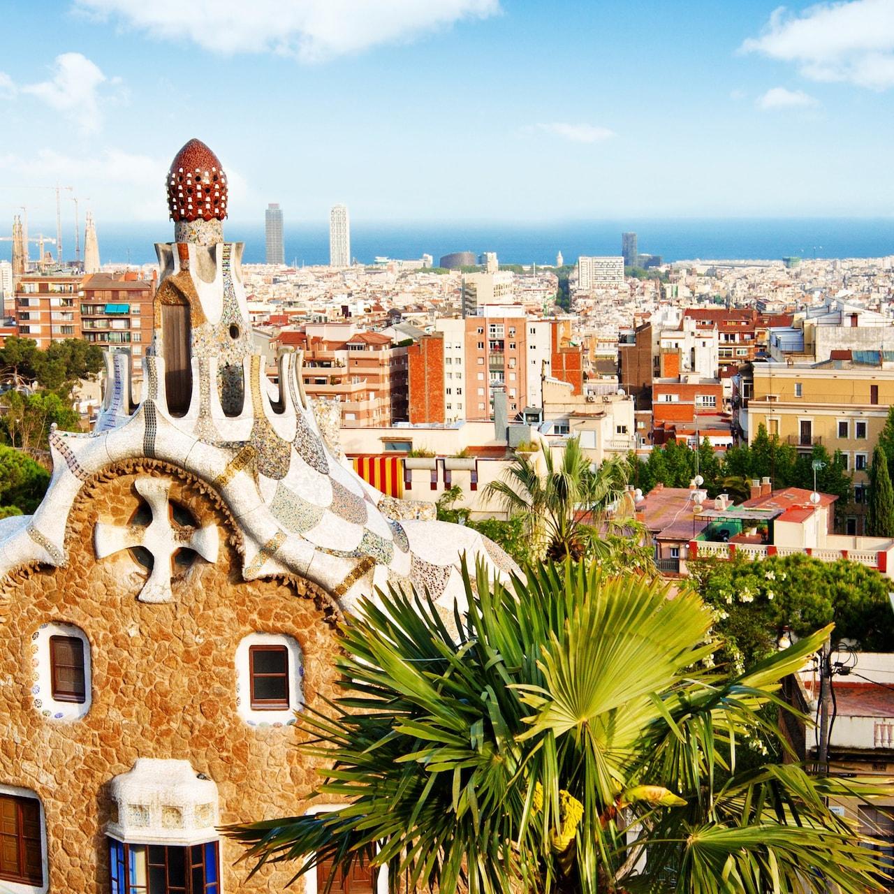 Gaudí's gingerbread-style houses in Park Güell